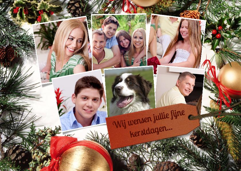 Kerstkaarten - Kerststuk collage 6 foto's - BK
