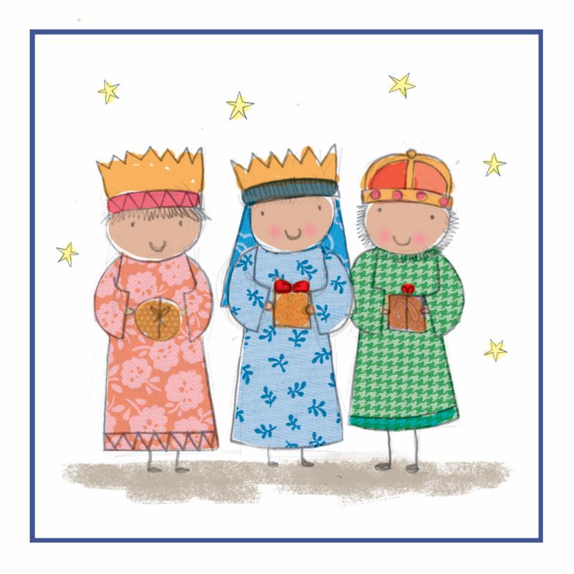 Kerstkaarten - Kinderkerstkaart met drie koningen