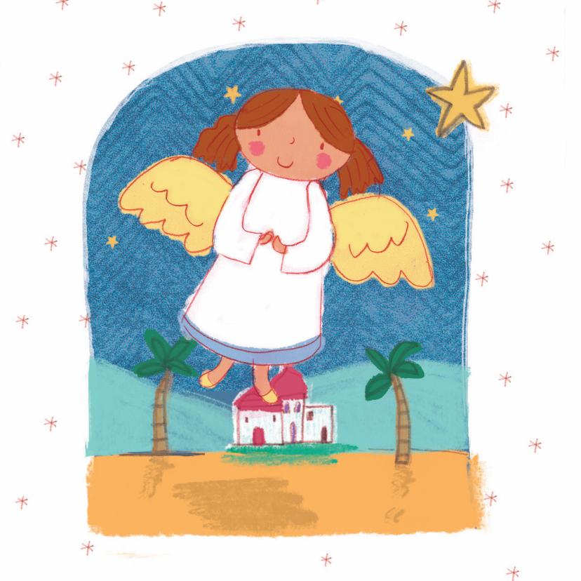 Kerstkaarten - Kinderkerstkaart met een engel