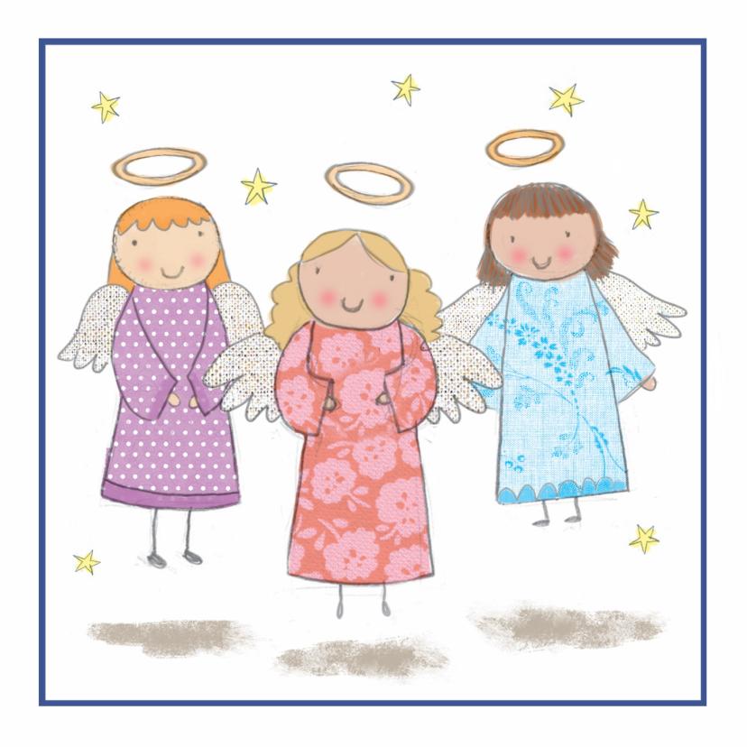 Kerstkaarten - Kinderkerstkaart met engelen