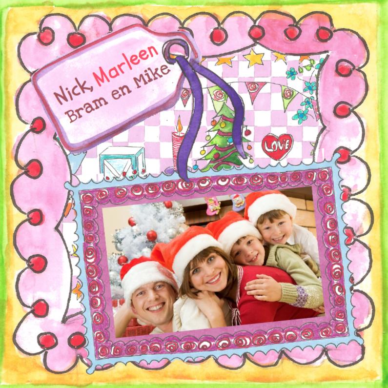Kerstkaarten - Kleurrijke foto kerstkaart