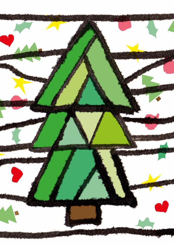 Kerstkaarten - Kleurrijke kerstkaart