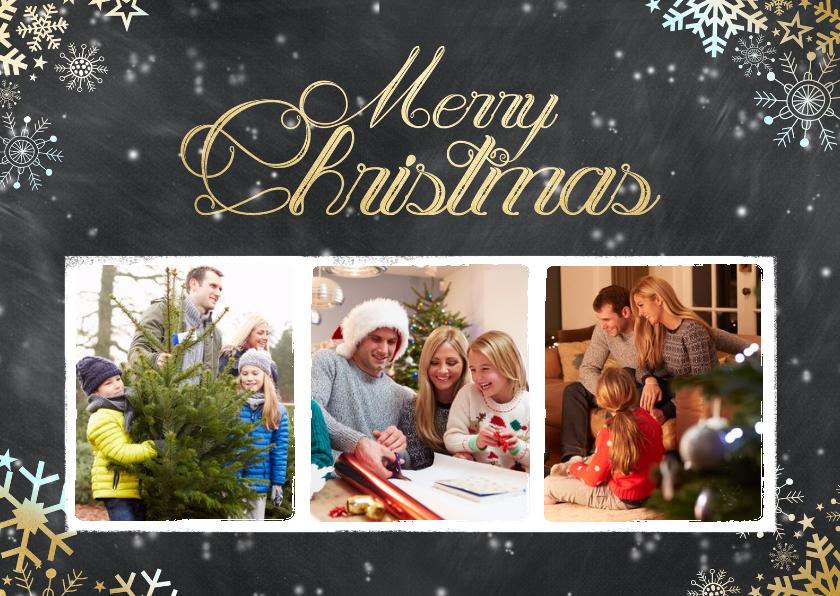 Kerstkaarten -  Krijtbord kerst 3 foto's