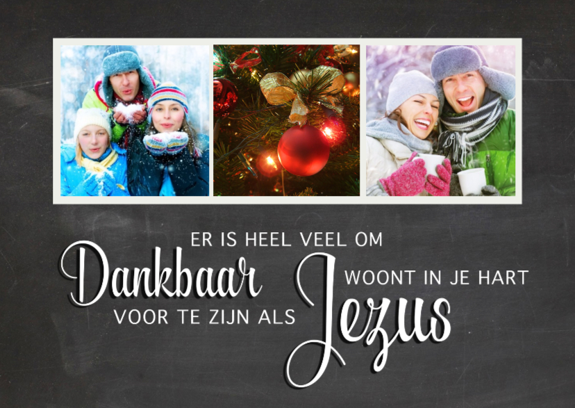 Kerstkaarten - Krijtbord religieus