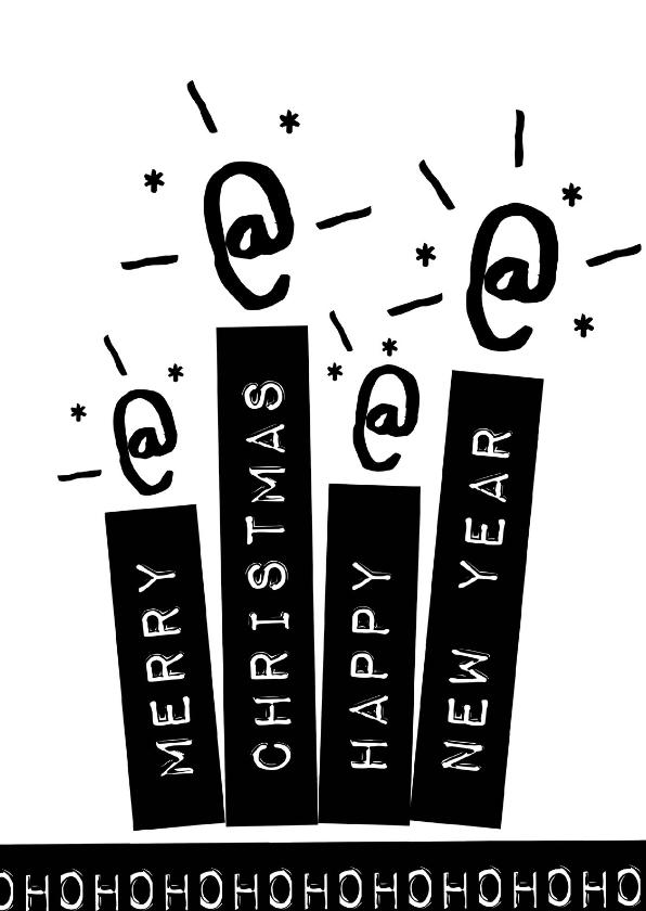 Kerstkaarten -  Label kaarsen gezin - BK