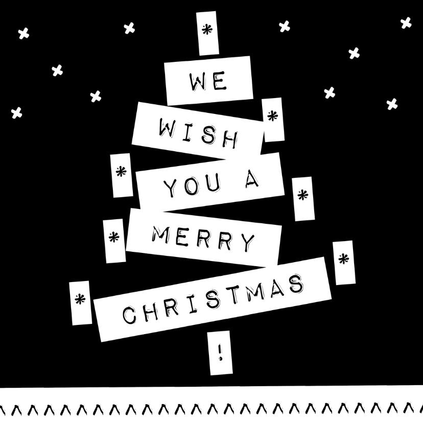 Kerstkaarten - Label kerstboom gezin V - BK