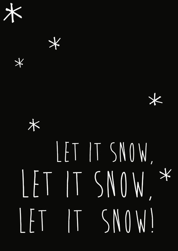 Kerstkaarten - Let it snow, let it snow -BF