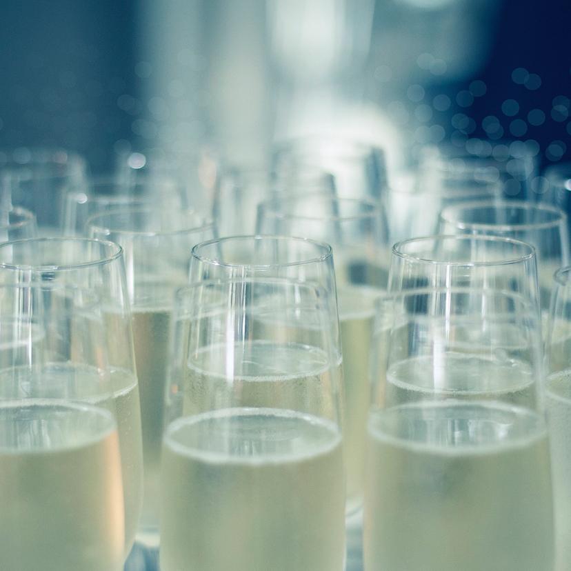 Kerstkaarten - let's celebrate champagne