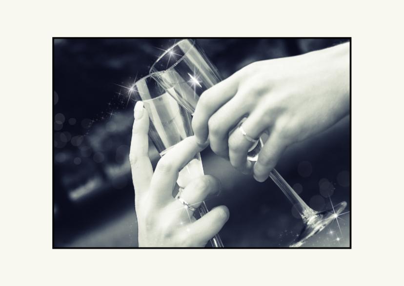 Kerstkaarten - let's toast