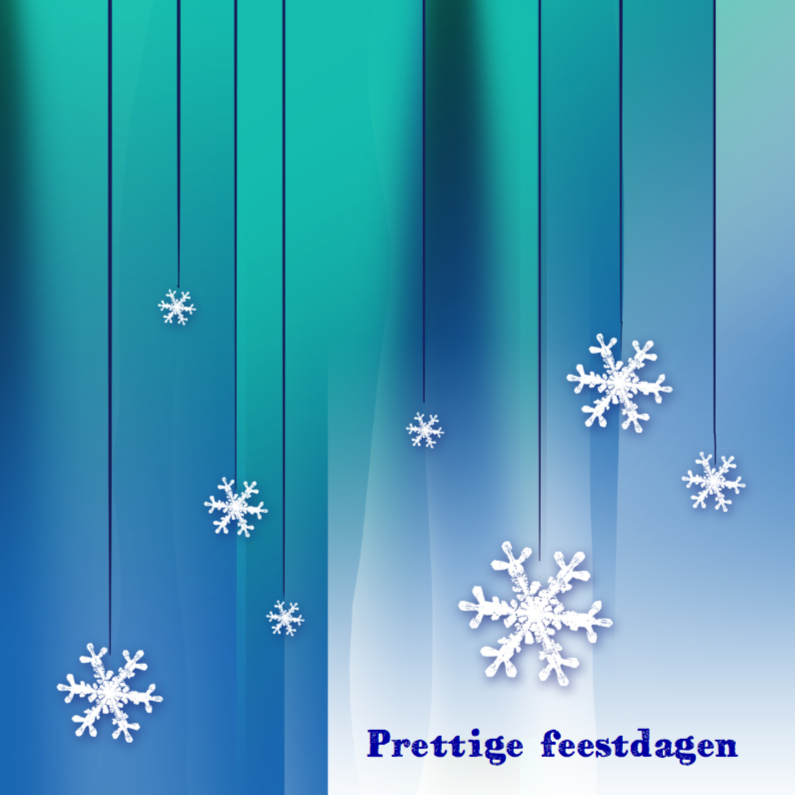 Kerstkaarten - Leuke kerstkaart kristallen