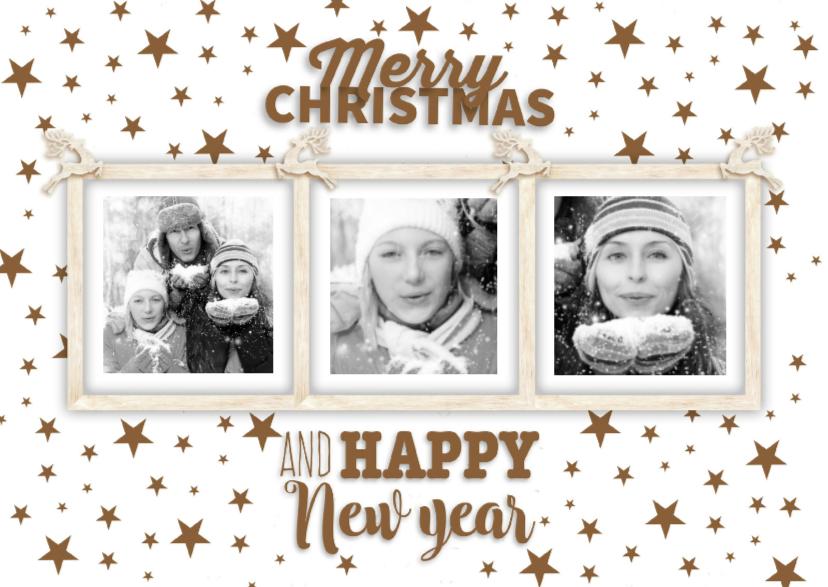 Kerstkaarten - Lijst met 3 foto's-isf