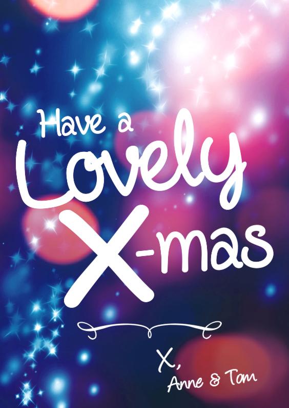 Kerstkaarten - Lovely X-mas kaart feest