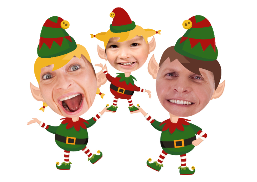 Kerstkaarten - Maak een Elf van jezelf 3 meisje