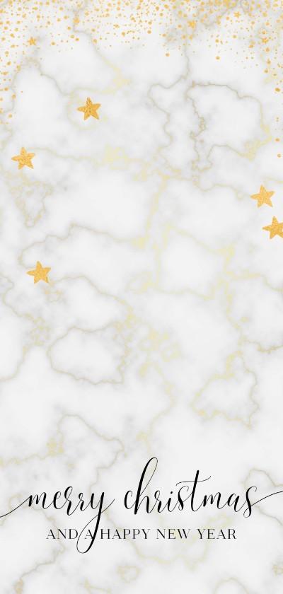 Kerstkaarten - Marmer & goud kerstkaart