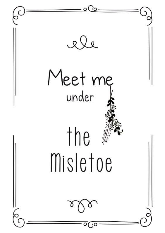 Kerstkaarten - Meet me under the Misletoe