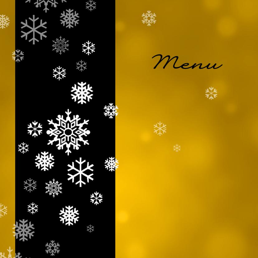 Kerstkaarten - Menukaart kerst ijskristallen