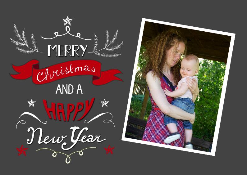 Kerstkaarten - Merry christmas eigen foto 1