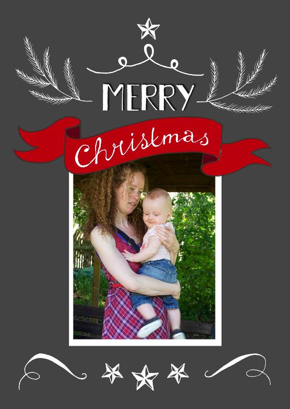 Kerstkaarten - Merry christmas eigen foto 3