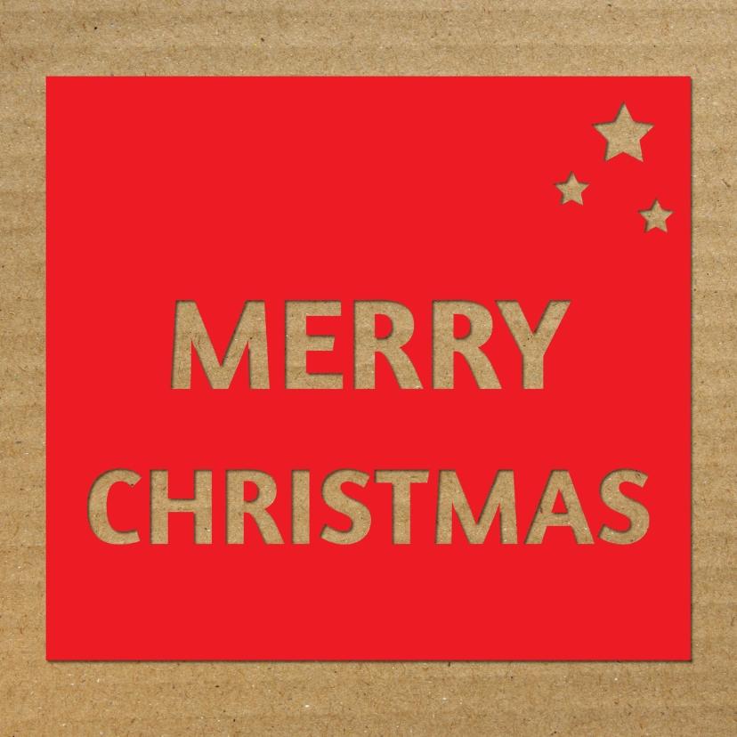 Kerstkaarten - Merry Christmas in rood