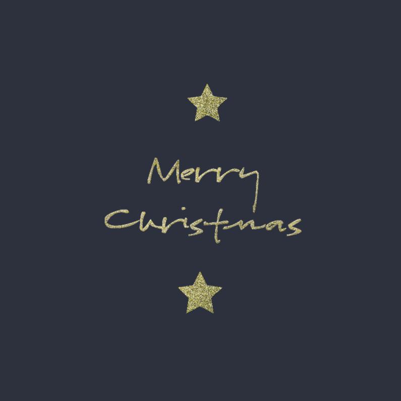 Kerstkaarten - merry christmas met sterren