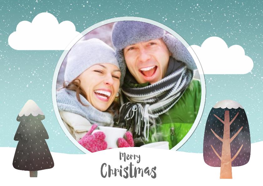 Kerstkaarten - Merry christmas winter