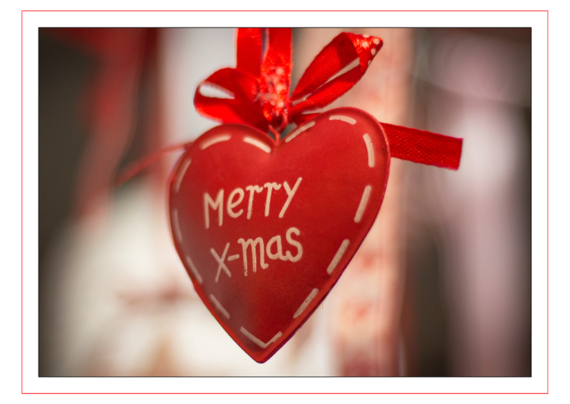 Kerstkaarten - Merry x mas heart