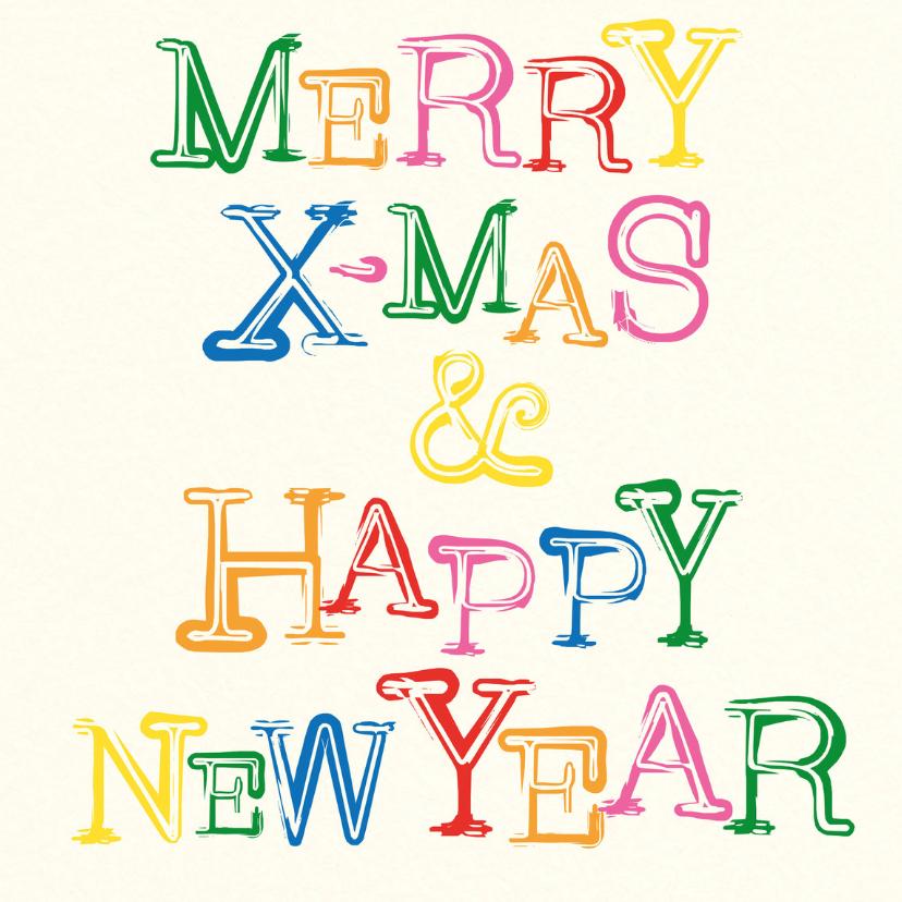 Kerstkaarten - Merry Xmas Happy New Year -BF