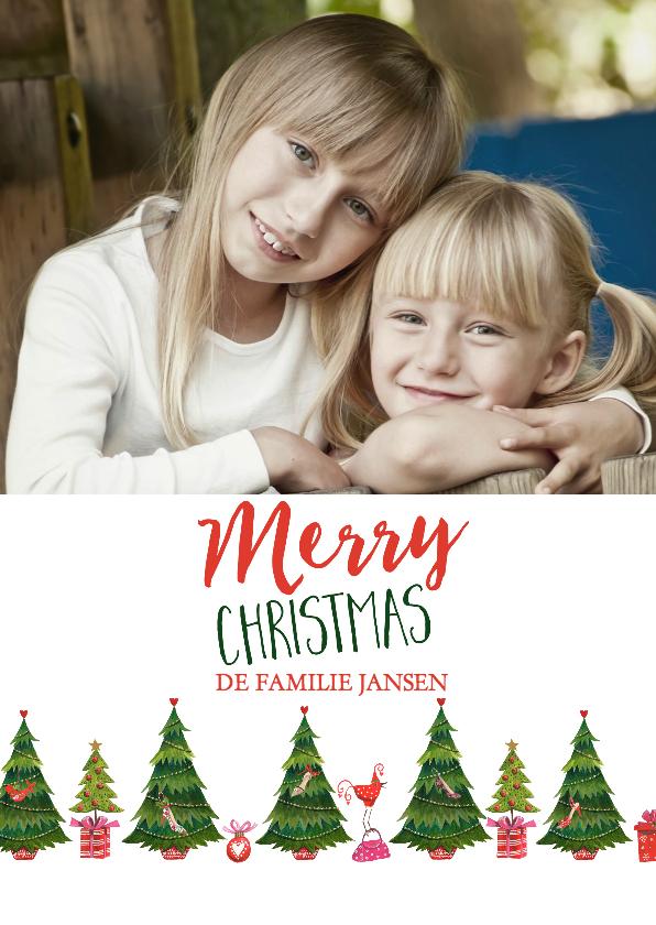 Kerstkaarten -  mode kerstbomen  patroon kaart