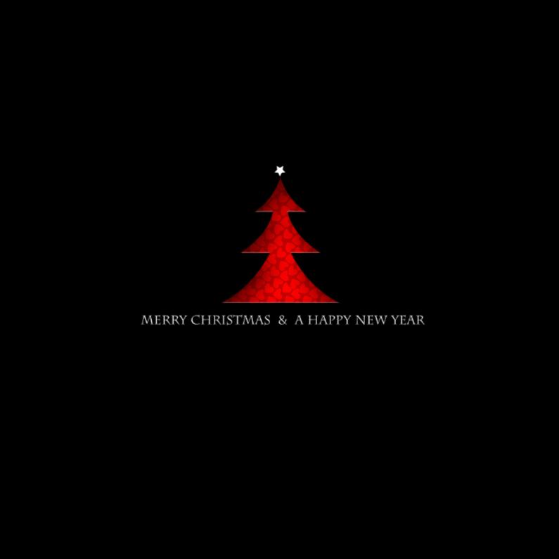 Kerstkaarten - Modern rood boompje