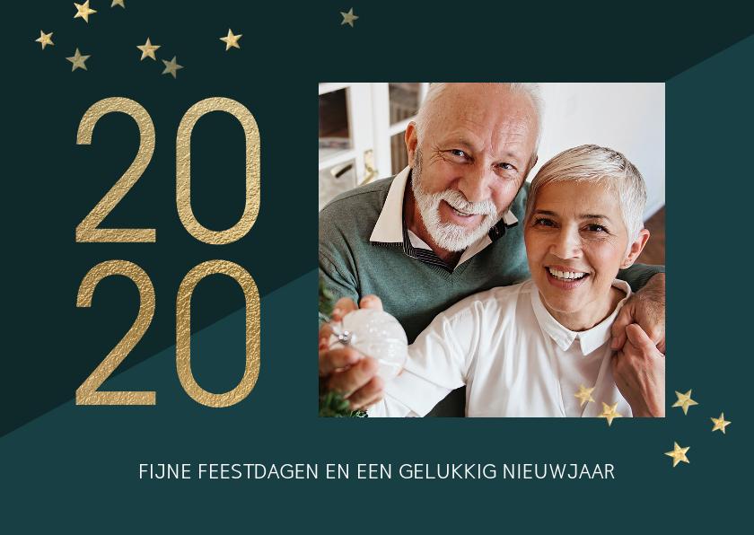 Kerstkaarten - Moderne grafische foto kerstkaart 2020