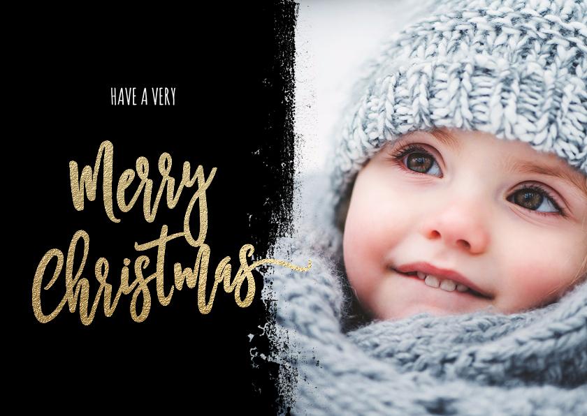 Kerstkaarten - Moderne kerstkaart foto