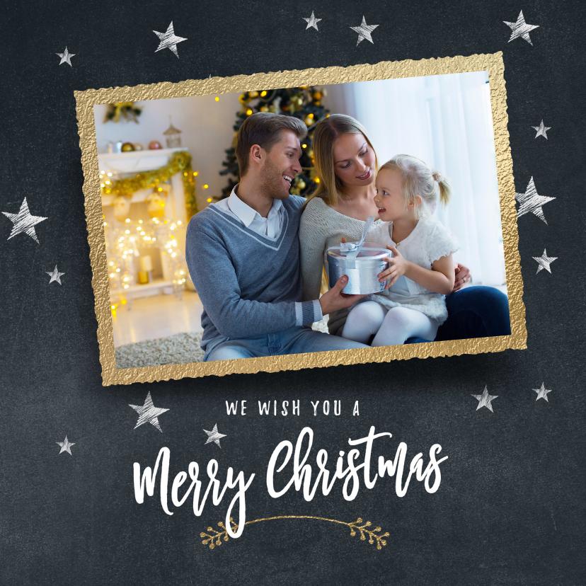 Kerstkaarten - Moderne kerstkaart sterren