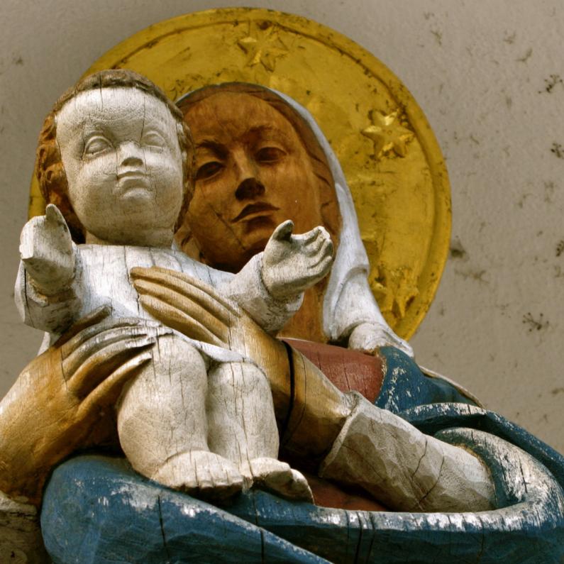 Kerstkaarten - Moeder met kind