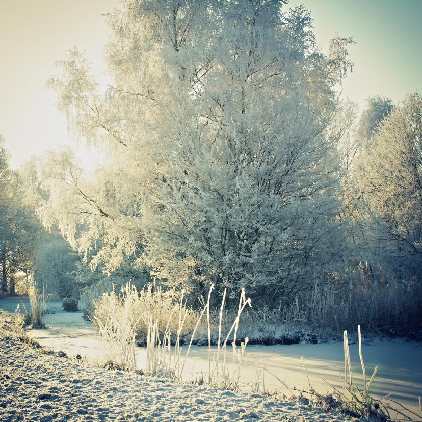 Kerstkaarten - Mooi winterlandschap