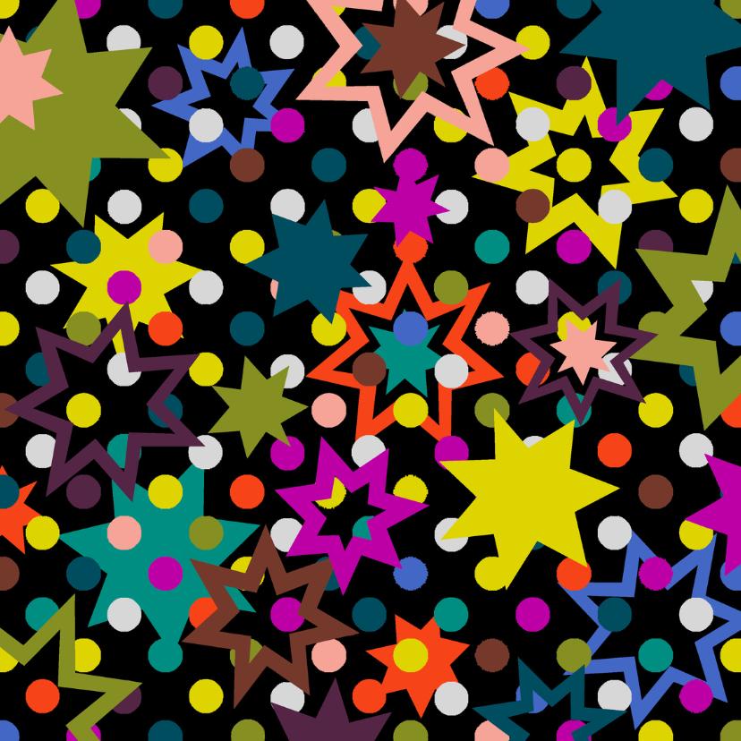 Kerstkaarten - Nieuwjaar Stippen en Sterren