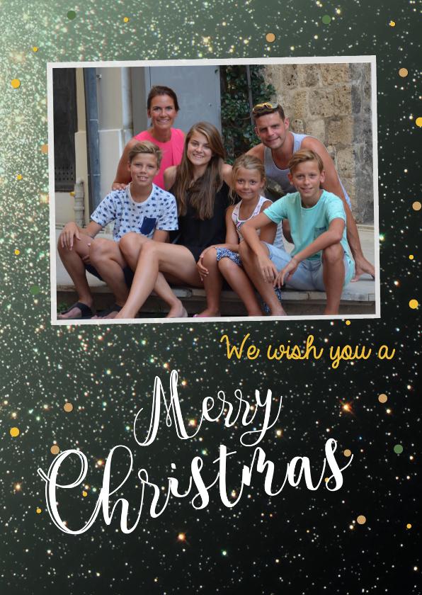 Kerstkaarten - Nieuwjaars We wish you a Merry Christmas & a Happy New Year