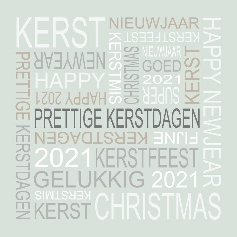 Kerstkaarten - Nieuwjaarskaart tekst groen