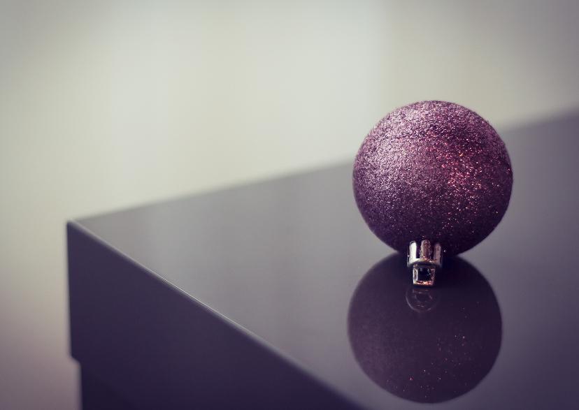 Kerstkaarten - oh christmas ball