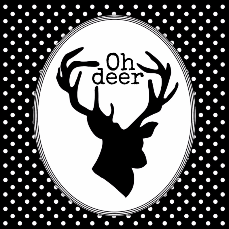 Kerstkaarten - Oh deer, it's christmas
