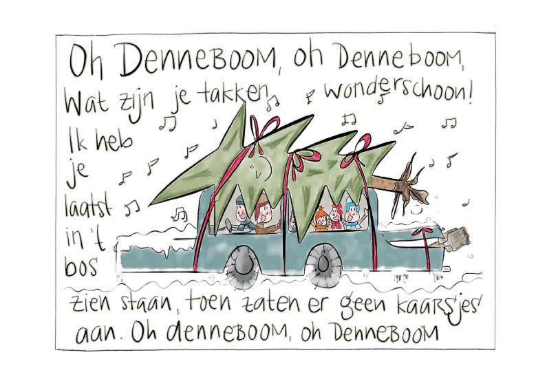 Kerstkaarten - Oh Denneboom-gezin