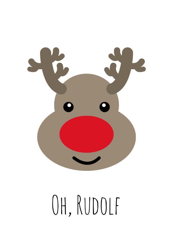 Kerstkaarten - Oh, Rudolf