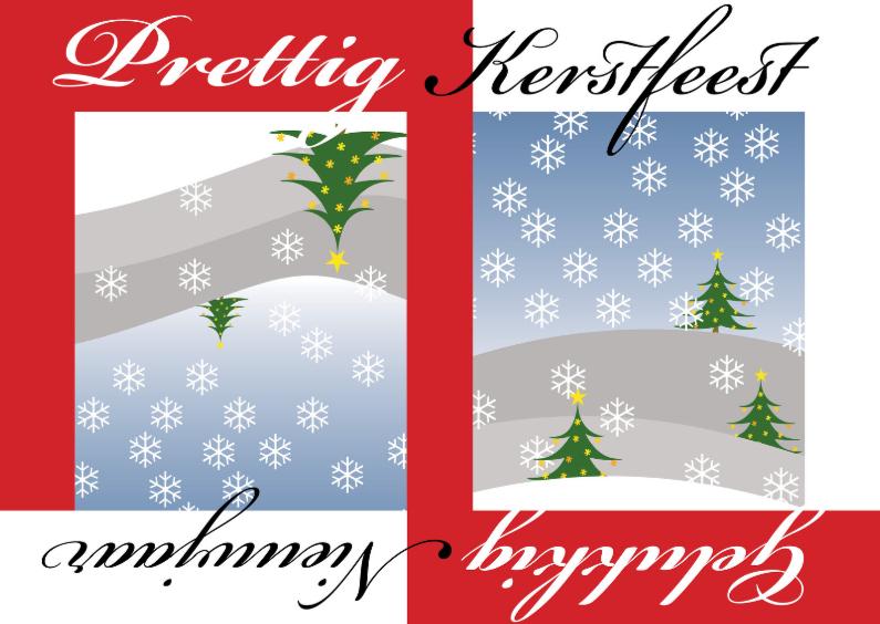 Kerstkaarten - Omkeerbaar