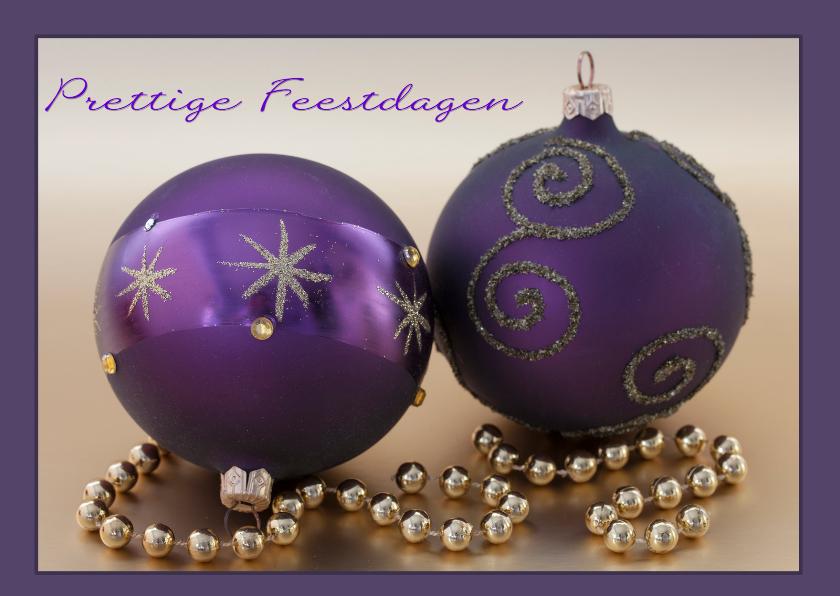 Kerstkaarten - paars en goud