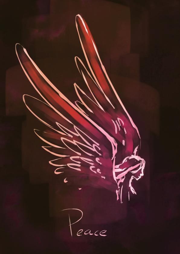 Kerstkaarten - Peace - Engelenvleugels
