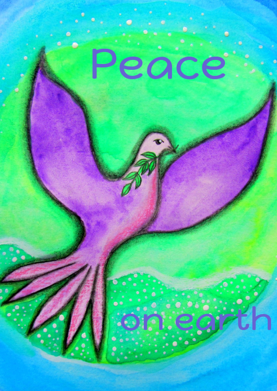 Kerstkaarten - Peace on earth