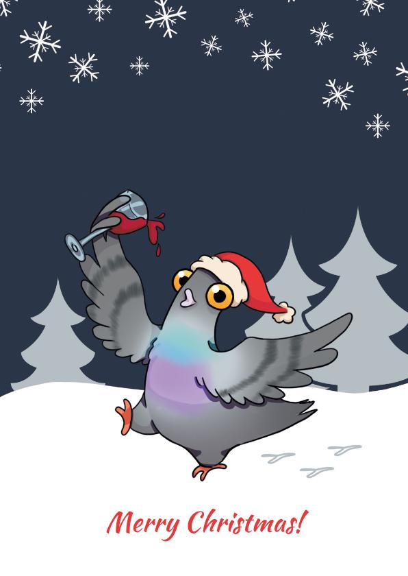 Kerstkaarten - Pigeons Unleashed Kerstkaart