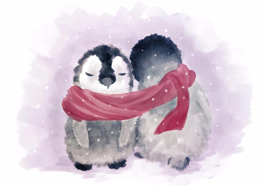 Kerstkaarten - Pinguinbabys