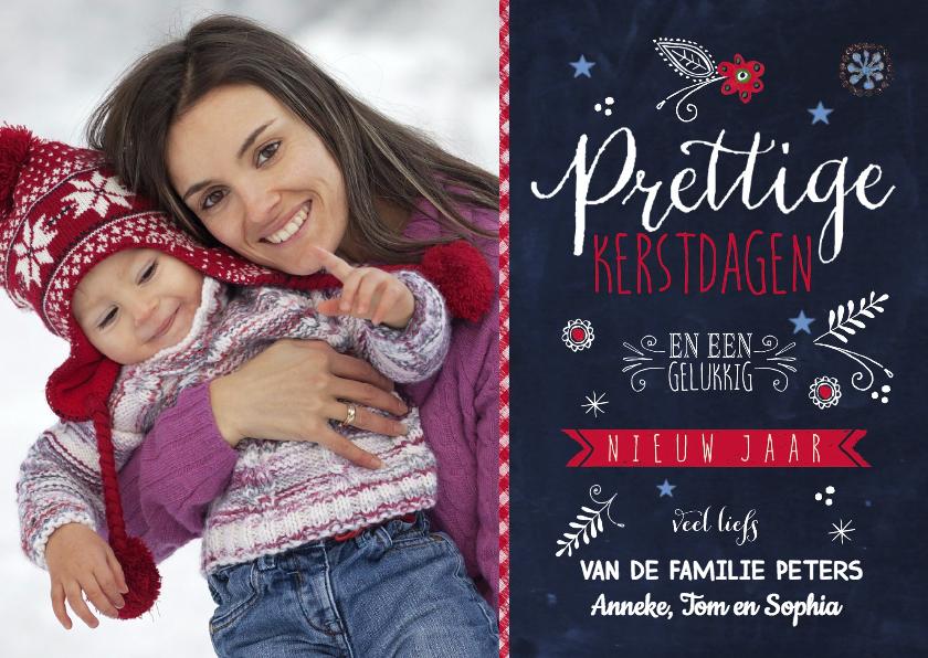 Kerstkaarten - Prettige kerst modern vrolijk