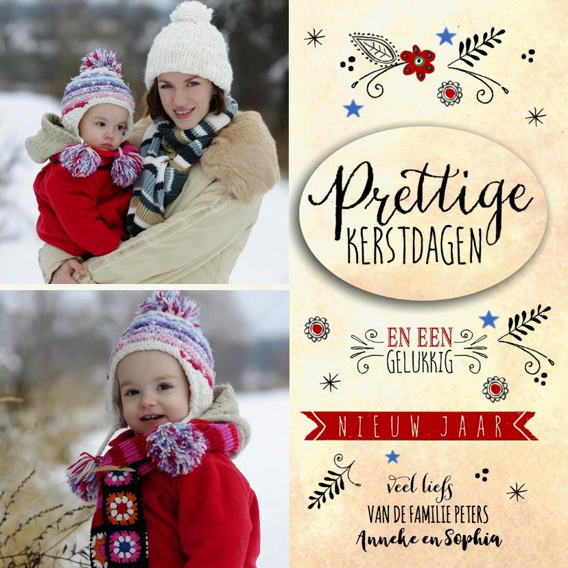 Kerstkaarten - Prettige Kerstdagen collage