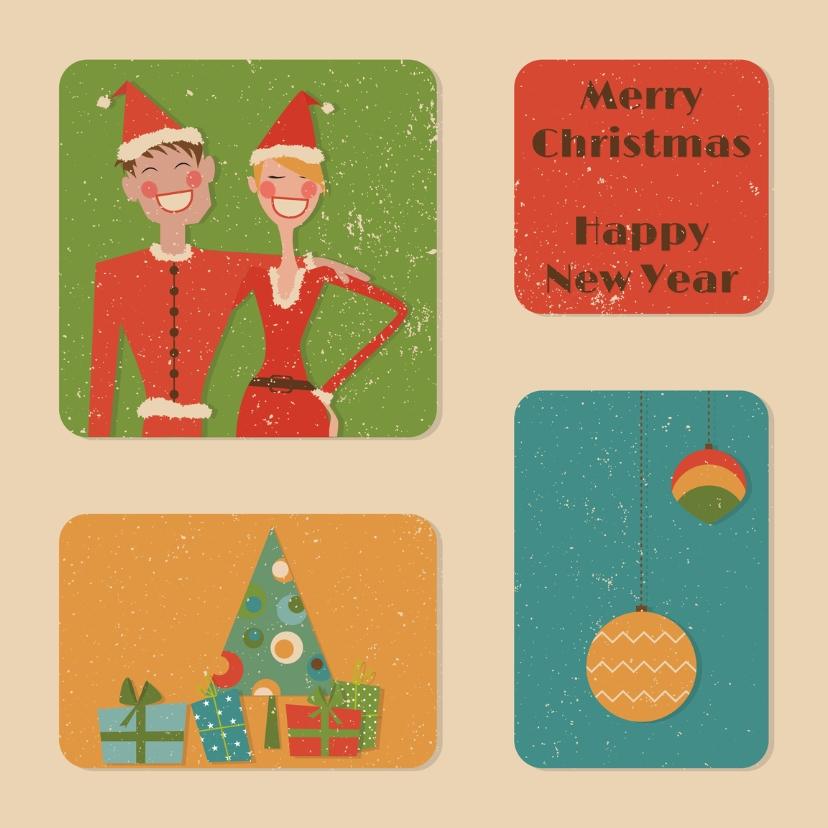 Kerstkaarten - Retro Kerst 3